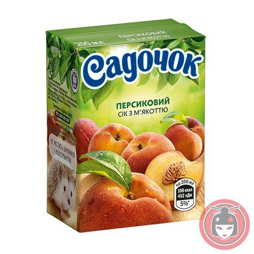 Сок Садочок персиковый 0.2л