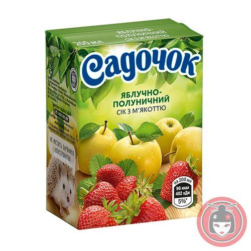 Сок Садочок яблочно-клубничный 0.2л